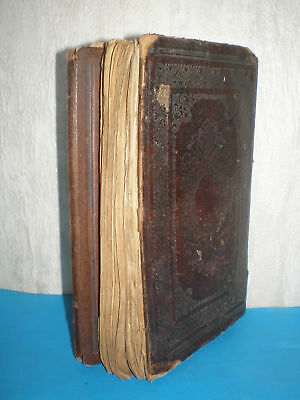 Antique holy Quran in Arabic from the 18-19th century with leather hardcover