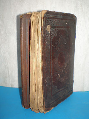 Antique holy Quran in Arabic from the 19th century with leather hardcover