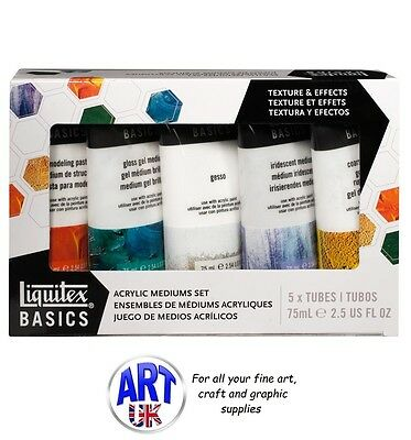 Liqitex BASICS MEDIUMS SET artists acrylic colour paint texture & effects