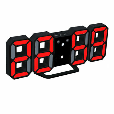 3d led digital wanduhr timer gro e modern wall clock uhr. Black Bedroom Furniture Sets. Home Design Ideas