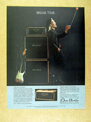 1985 GE Smith photo Dean Markley Signature Series Amps vintage print Ad