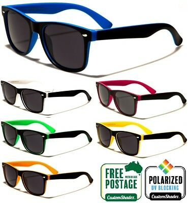 New Polarised Sunglasses - Classic / Retro Two Tone Frame - Polarized Lens