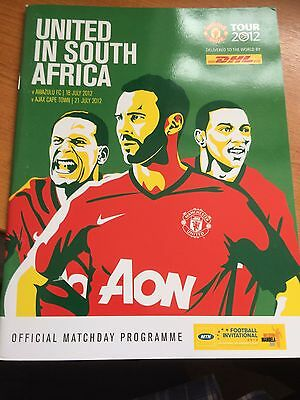 Man Utd 2012 Tour of South Africa, official Programme