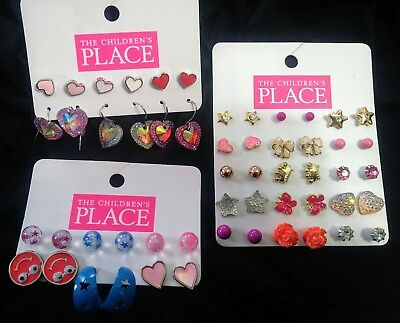 The Childrens Place, 3 packs of Earrings (27 pairs total) hypoallergenic