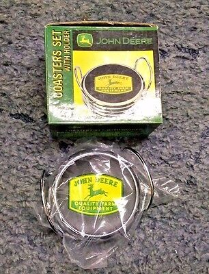 John Deere Coaster Set With Holder With Box New
