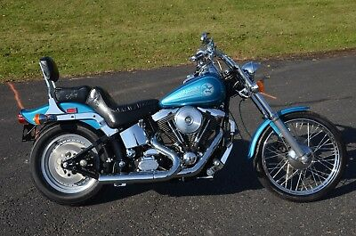 1994 Harley-Davidson Softail  1994 Aqua Pearl Harley Davidson Softail Custom FXSTC Many Extras Only 6277 Miles