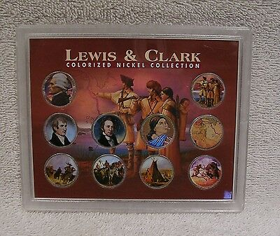 Colorized -  Lewis and Clark Nickel Collection - Five Cent Coins