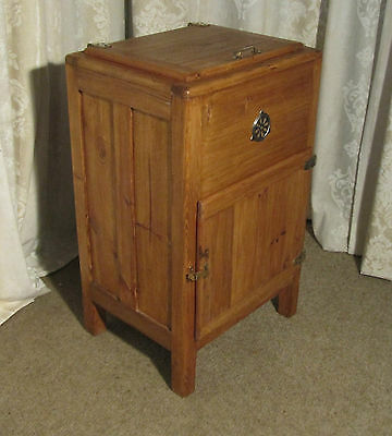 Country House Pine Ice Box or Refrigerator from around 1890