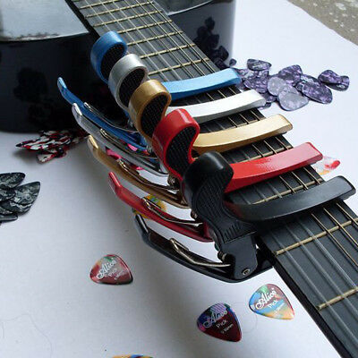 Aluminum Alloy Quick Change Clamp Key Capo For Acoustic Electric Classic Guitar