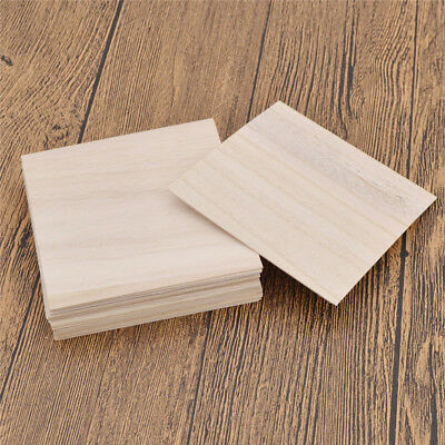 Wooden Plate Model Wood Sheets for DIY House Ship Car Aircraft Modes 100x100x1mm