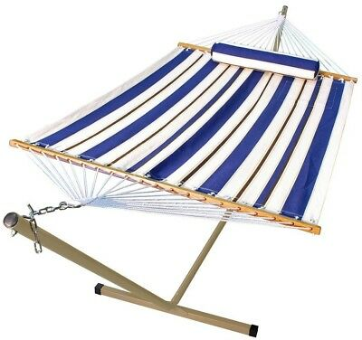 11 ft. Fabric Hammock and 12 ft. Steel Stand with Matching Pillow Poly Outdoor