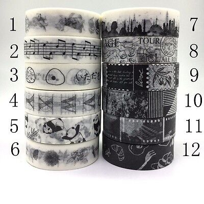 Washi Tape15mmX7m Roll Masking Adhesive Decorative Scrapbook DIY Craft Sticky