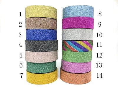 Glitter Foil Washi Tape 15mmX10m Masking  Decorative Scrapbook Sticky