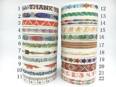 Gold,Purple,Green  Washi Tape 8mmX8m Masking  Decorative Scrapbook Sticky