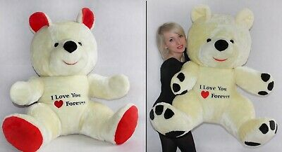 120cm Large Giant Big Teddy Bear Soft Plush Toys Gift Embroidery