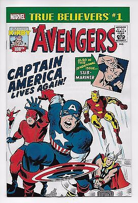 AVENGERS #4 1st Silver Age CAPTAIN AMERICA appearance True Believers variant NM