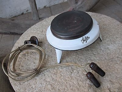 Antique Electric 1950s Functional Enamelled Stove Burner Portable Avilez Mark