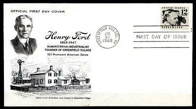Industrieller Henry Ford (1863-1947). FDC. USA 1968