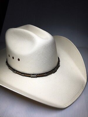 COWBOY HAT SIZE 7 1 8 20X Quality Straw Larry Mahan