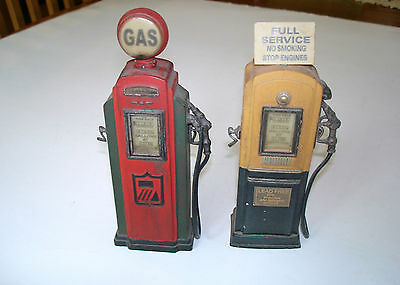 Set of 2, Vintage, Resin, Replica, GAS PUMPS, Great Detail, Great Shape • $20.50