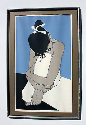 Vintage Mid-Century GEORG RAUCH Serigraph Signed Numbered AUSTRIAN Listed Artist