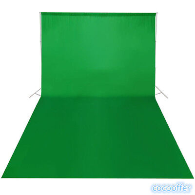 Green 1.6X3M Screen Chroma Key Background Backdrop for Studio Photo Lighting US