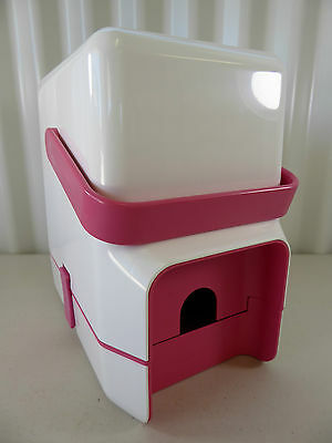 Retro DECOR BYO WINE & WATER CASK COOLER Carrier - Pink and White