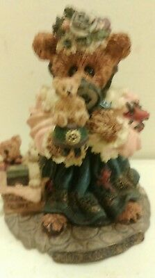 1998 Boyds Bears Bearstone Resin Figurine the Collector RETIRED