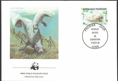 FDC - Togo, Togolaise, 1984 WWF, Wildlife, Ocean Marine Life, First Day Cover