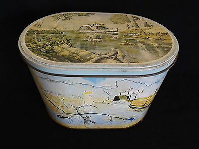 Vintage 1986 Arnotts Biscuit Tin Paddle Steamer Ps Melbourne