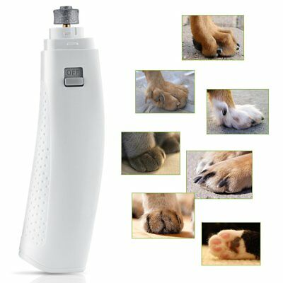Electric Dog Pet Cat Puppy Claw Toe Nail Trimmer Tool Grooming Grinder Clipper