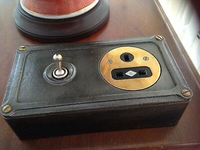 Vintage Industrial Britmac Light Switch Plug Socket Restored Working Perfect
