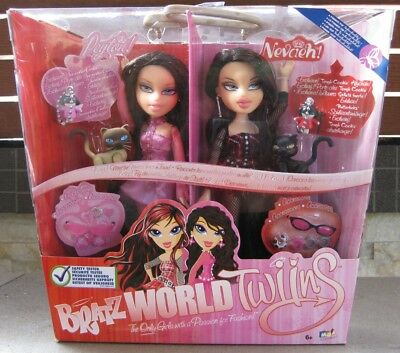 Bratz Twins Peyton & Nevaeh Released 2008 **brand New In Box**