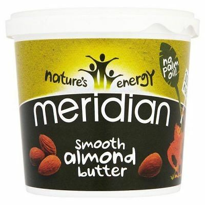 Meridian Foods Natural Smooth Almond Butter 100% 1kg