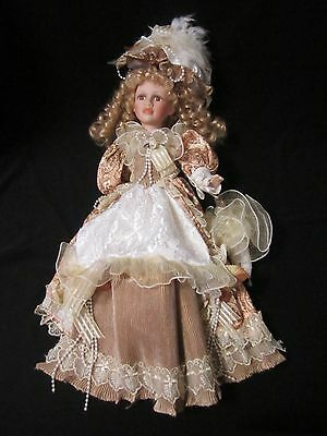 Large Porcelain Doll fully clothed Victorian style 52cm tall