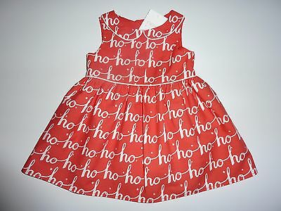 NEXT Gorgeous Little Christmas HO HO Red Lined Dress Up to 3 Months NWT