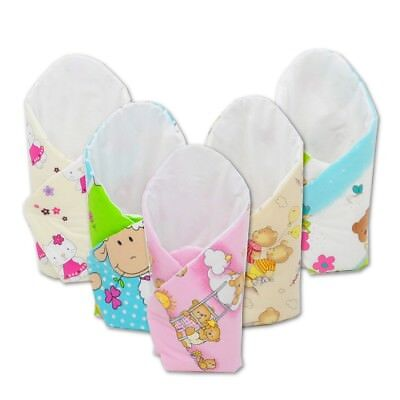 Baby, toddler SWADDLE, COCOON, SACK BEDDING, WRAP BLANKET approx. 80x80cm