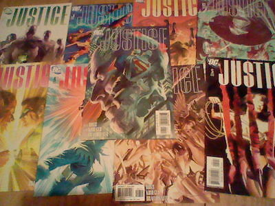 DC JUSTICE #1,2,3,4,5,7,8,11,12  Alex Ross art  Comic lot (2005)