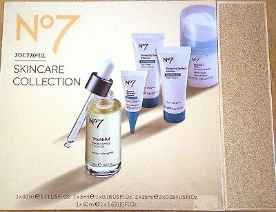 Boots No7 Youthful Skincare Collection Gift Set Protect & Perfect Brand New BN