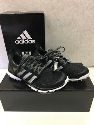 New In Box --adidas-- Climacool Spikeless Black/White Golf Shoes Men's 8 to 12
