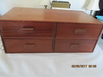 Tobacanian - 4 Drawer Wooden Cigar Box - Thompson & Co., Havana Sampler, Tampa