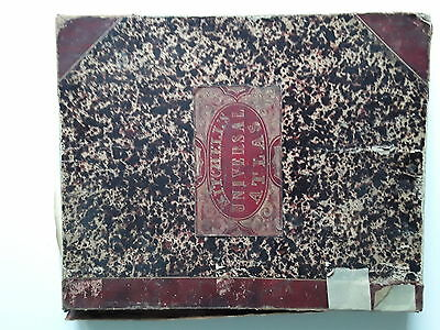 Rare 1847 Mitchell's New Universal Atlas by S. Augustus Mitchell, 2nd Edition