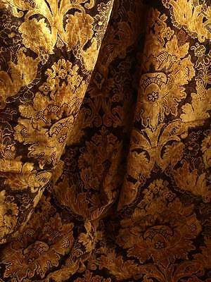 Gorgeous Flower Fabric Velvet Curtain Tapestry Panel Jacquard Antique Vintage299