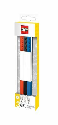 LEGO Stationery - Colored Gel Pens 3 Pack with Building Bricks