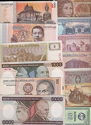World Paper Money Banknotes Some New Uncirculated Countries Nice Condition Fold
