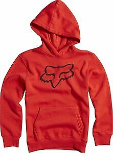 Fox Racing Legacy Youth Boys Pull Over Hoody Flame Red