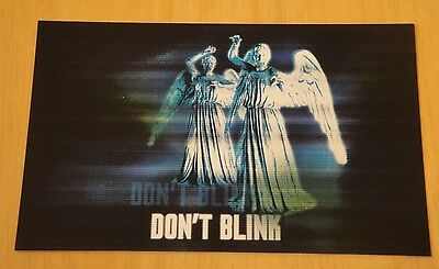Doctor Who Printed Postcard ~ The Angels 'whatever You Do, Don't Blink' - New
