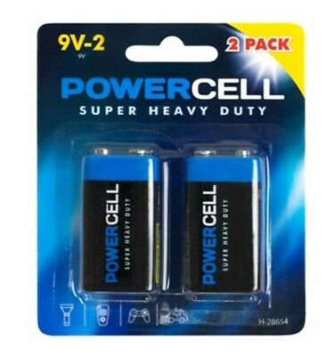 10 pack 2 X 9v PP3 Powercell heavy Duty Batteries Smoke Battery  MN1604 6LR61