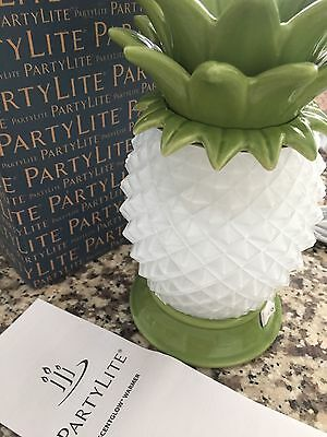 NIB NEW PartyLite ScentGlow Pineapple Warmer Air Freshener w FREE Scent Melts!