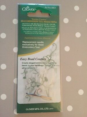 Clover Kantan Couture Bead Embroidery Tool Needle Refill 9901 New/Sealed